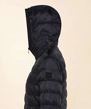 Slim-fit down jacket with hood | Dekker