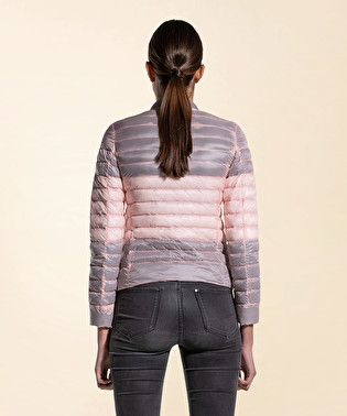 Down jacket with colored padding | Dekker