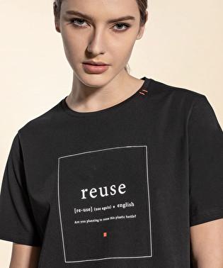 T-shirt con slogan eco sul davanti | Dekker