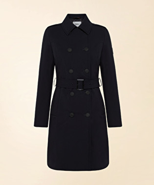 Double-breasted trench coat with waist belt | Dekker