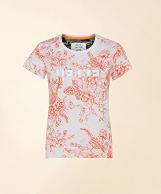 T-shirt with floral print and logo | Dekker