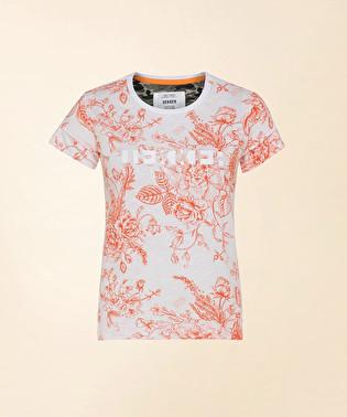 T-shirt con stampa floreale e logo | Dekker