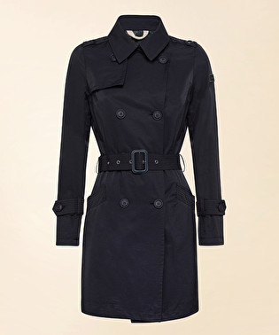 Double-breasted trench coat in cotton and nylon | Dekker