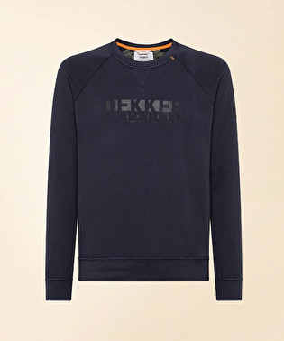 Cotton round neck with text on the front | Dekker